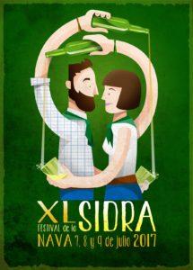 Cartel del XL Festival de la Sidra.