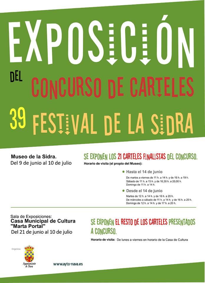 Cartel exposición concurso carteles festival de la sidra